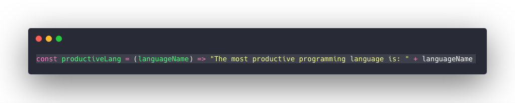 The Productive Programming Language